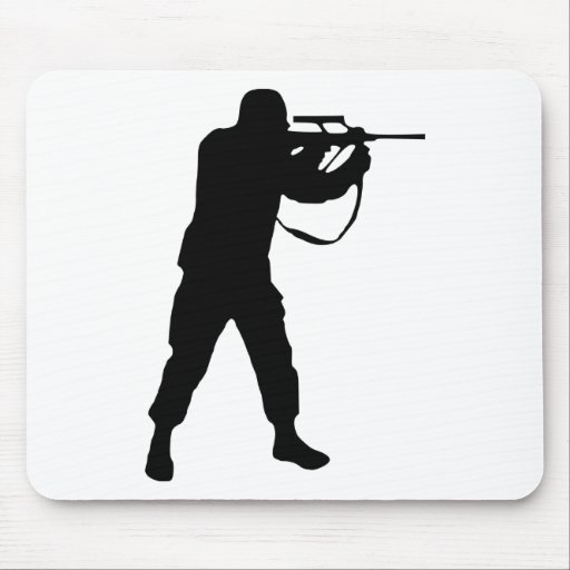 Soldier Silhouette Mousepad