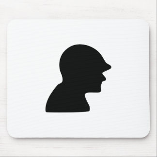 Soldier Silhouette Mousepads