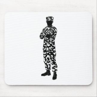 Soldier silhouette mouse mat