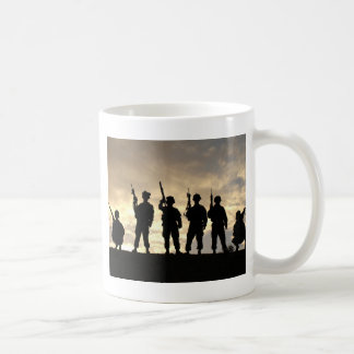 Soldier Silhouettes Coffee Mug