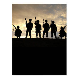 Soldier Silhouettes Postcard