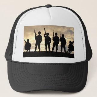 Soldier Silhouettes Trucker Hat