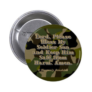 Soldier Son Prayer 6 Cm Round Badge