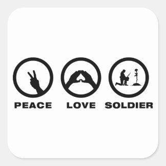 Soldier Square Sticker