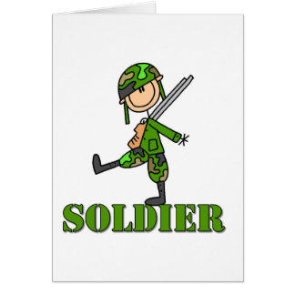 Soldier Stick Figure Greeting Card
