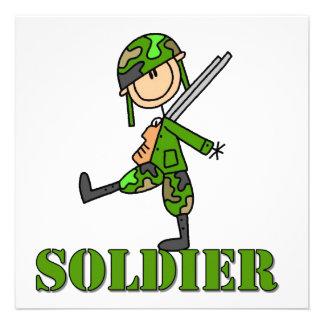 Soldier Stick Figure Personalized Invitation