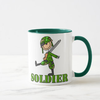 Soldier Stick Figure Mug