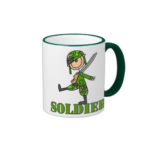 Soldier Stick Figure Mug