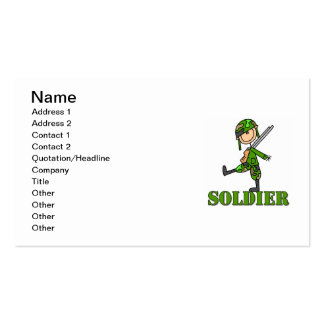 Soldier Stick Figure Pack Of Standard Business Cards