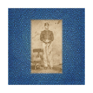Soldier Stretched Canvas Print