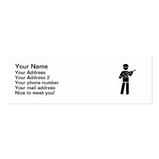 Soldier symbol Double-Sided mini business cards (Pack of 20)