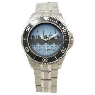Soldier Tribute Watch Lest We Forget Wrist Watch