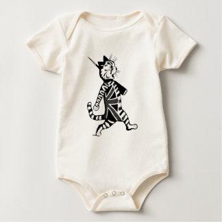 Soldier Union Jack Cat Baby Bodysuit