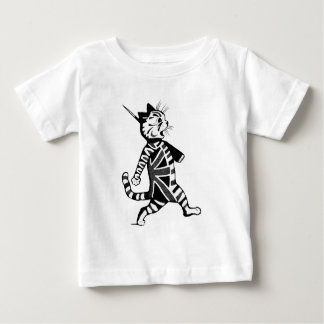 Soldier Union Jack Cat Baby T-Shirt