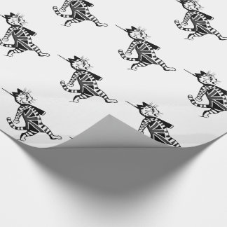 Soldier Union Jack Cat Wrapping Paper