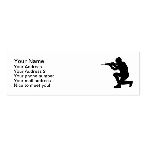 Soldier weapon business card