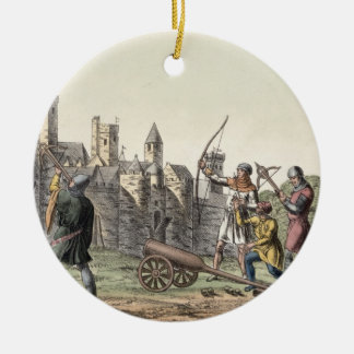Soldiers and Artillery of the 15th Century, plate Round Ceramic Decoration