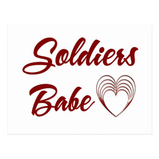 Soldiers Babe Postcard