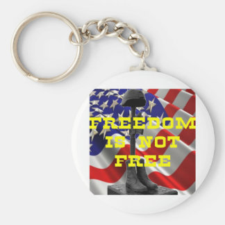 Soldiers Battlefield Cross Basic Round Button Key Ring