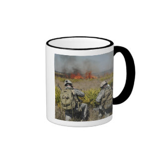 Soldiers call in information ringer mug
