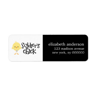 Soldier's Chick Address Labels