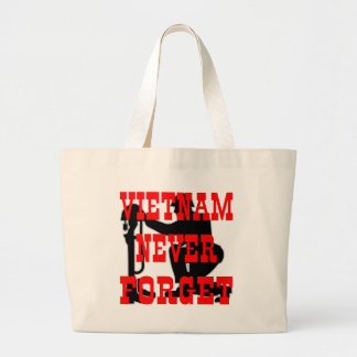 Soldiers Cross Vietnam Never Forget Canvas Bags