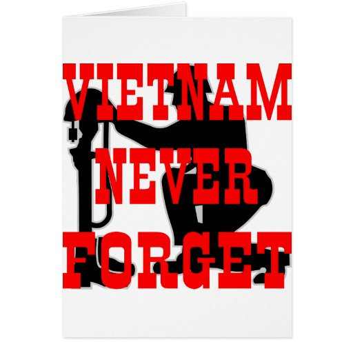 Soldiers Cross Vietnam Never Forget Cards