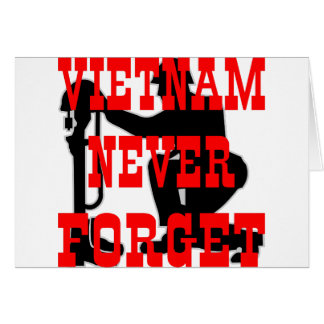 Soldiers Cross Vietnam Never Forget Greeting Card