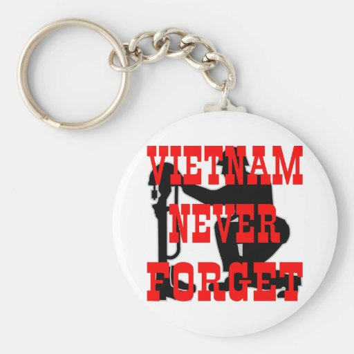 Soldiers Cross Vietnam Never Forget Key Chain