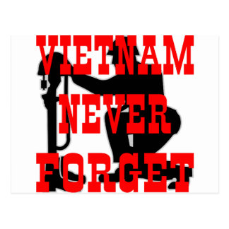 Soldiers Cross Vietnam Never Forget Postcard