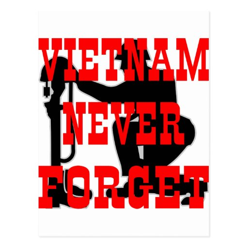 Soldiers Cross Vietnam Never Forget Postcards