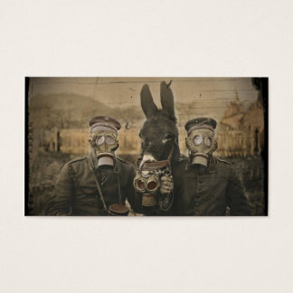 Soldiers Donkey and Gas Masks
