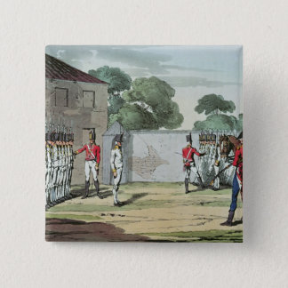 Soldiers Drilling, 1807 15 Cm Square Badge