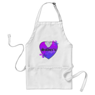 Soldier's Fiancee Heart Shaped Military Dog Tags Standard Apron