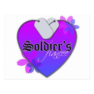Soldier's Fiancee Postcard