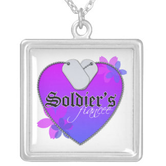 Soldier's Fiancee Square Pendant Necklace