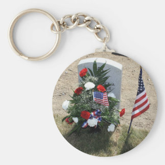 Soldier's Grave Basic Round Button Key Ring