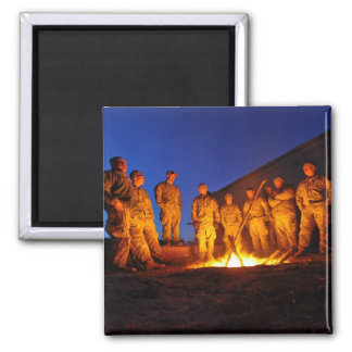 Soldiers in Afghanistan Square Magnet