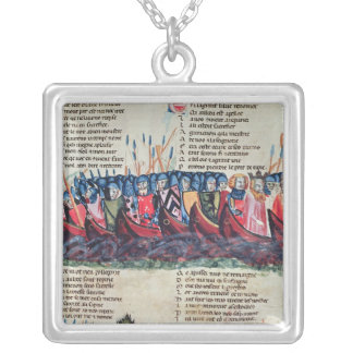 Soldiers in their Ships Silver Plated Necklace