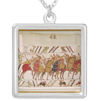 Soldiers leaving Hastings to do battle with Silver Plated Necklace