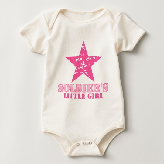 Soldier's Little Girl Baby Bodysuit