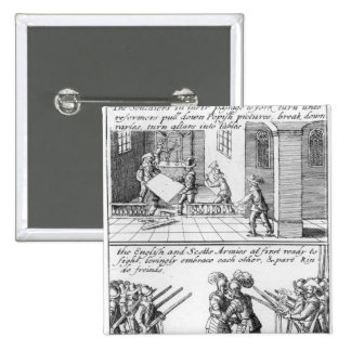 Soldiers Looting a Catholic Church 15 Cm Square Badge