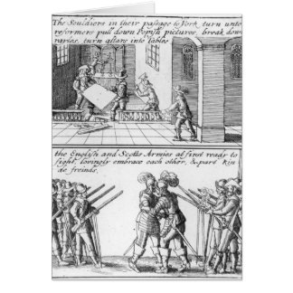 Soldiers Looting a Catholic Church Card