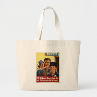 Soldiers Of Supply World War 2 Tote Bags