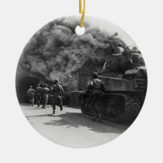 Soldiers of the 55th Armored Infantry World War II Christmas Ornament