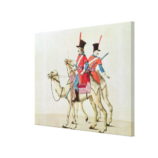 Soldiers of the Dromedary Regiment, 1839 Stretched Canvas Prints