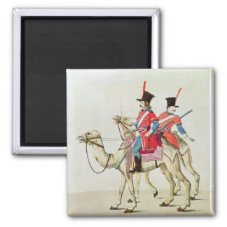 Soldiers of the Dromedary Regiment, 1839 Square Magnet