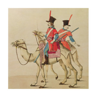 Soldiers of the Dromedary Regiment, 1839 Wood Prints