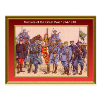 Soldiers of the Great War 1914-1918 4 Postcard