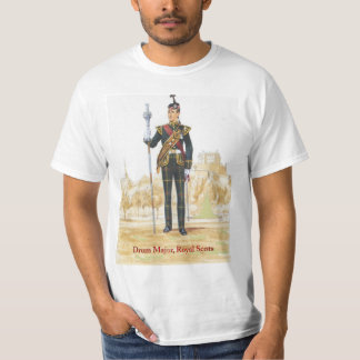 Soldiers of the Queen,Drum Major, Royal Scots Tshirts